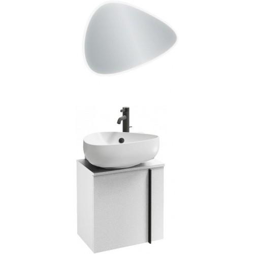 Мебель для ванной Jacob Delafon Nouvelle Vague 45 подвесная левая белая блестящая