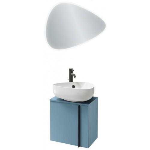 Мебель для ванной Jacob Delafon Nouvelle Vague 45 подвесная левая блестящий аквамарин