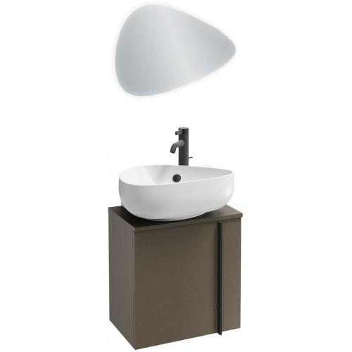 Мебель для ванной Jacob Delafon Nouvelle Vague 45 подвесная левая коричневая кожа