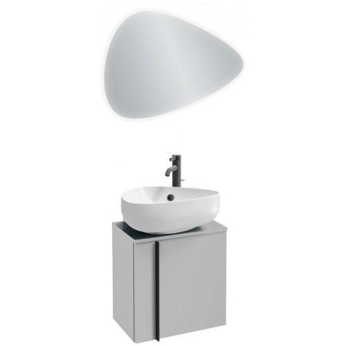 Мебель для ванной Jacob Delafon Nouvelle Vague 45 подвесная правая белая блестящая