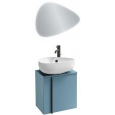 Мебель для ванной Jacob Delafon Nouvelle Vague 45 подвесная правая блестящий аквамарин