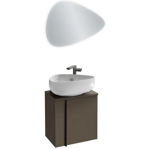 Мебель для ванной Jacob Delafon Nouvelle Vague 45 подвесная правая коричневая кожа