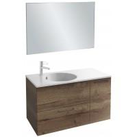 Мебель для ванной Jacob Delafon Odeon Rive Gauche 100 подвесная дуб табак с черными ручками