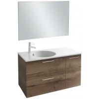 Мебель для ванной Jacob Delafon Odeon Rive Gauche 100 подвесная дуб табак с ручками хром