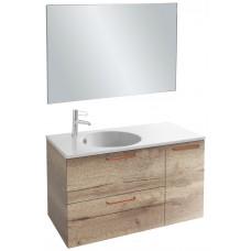 Мебель для ванной Jacob Delafon Odeon Rive Gauche 100 подвесная квебекский дуб с медными ручками