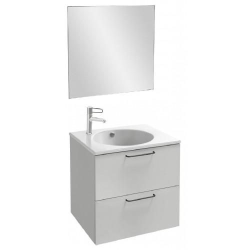 Мебель для ванной Jacob Delafon Odeon Rive Gauche 60 подвесная белый блестящий с черными ручками
