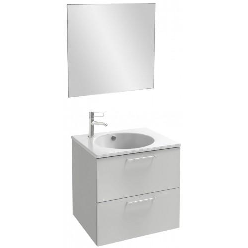 Мебель для ванной Jacob Delafon Odeon Rive Gauche 60 подвесная белый блестящий с ручками хром
