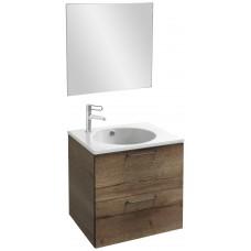 Мебель для ванной Jacob Delafon Odeon Rive Gauche 60 подвесная дуб табак с черными ручками