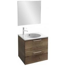 Мебель для ванной Jacob Delafon Odeon Rive Gauche 60 подвесная дуб табак с ручками хром