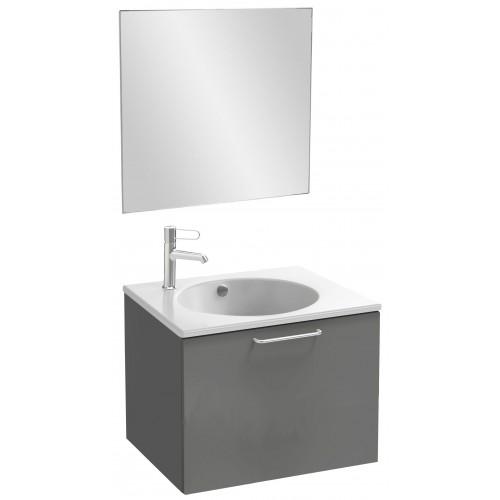 Мебель для ванной Jacob Delafon Odeon Rive Gauche 60 подвесная с 1-м ящиком серый антрацит с ручками хром