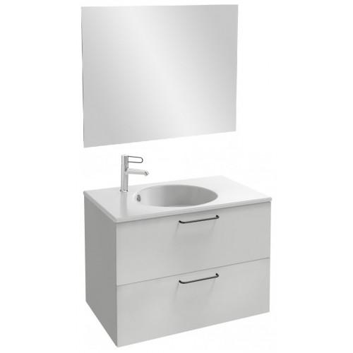 Мебель для ванной Jacob Delafon Odeon Rive Gauche 80 подвесная белый блестящий с черными ручками