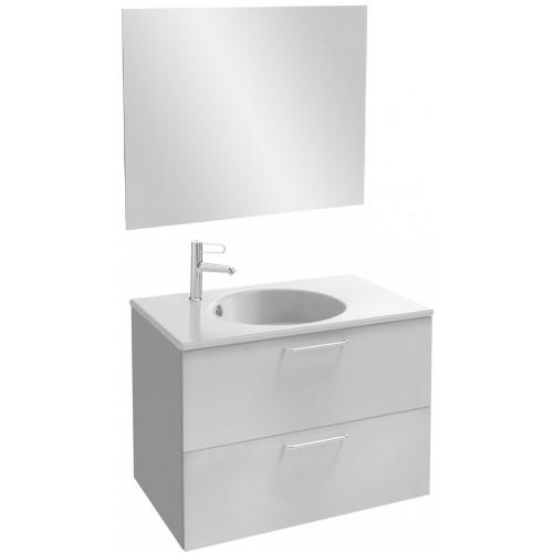 Мебель для ванной Jacob Delafon Odeon Rive Gauche 80 подвесная белый блестящий с ручками хром