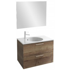 Мебель для ванной Jacob Delafon Odeon Rive Gauche 80 подвесная дуб табак с ручками хром