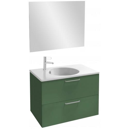 Мебель для ванной Jacob Delafon Odeon Rive Gauche 80 подвесная эвкалипт сатин с ручками хром