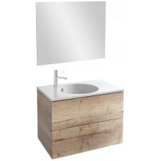 Мебель для ванной Jacob Delafon Odeon Rive Gauche 80 подвесная квебекский дуб с медными ручками