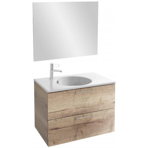 Мебель для ванной Jacob Delafon Odeon Rive Gauche 80 подвесная квебекский дуб с ручками хром