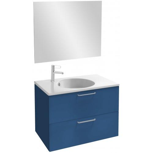 Мебель для ванной Jacob Delafon Odeon Rive Gauche 80 подвесная морской синий матовый с ручками хром