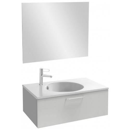 Мебель для ванной Jacob Delafon Odeon Rive Gauche 80 подвесная с 1-м ящиком белый блестящий лак с ручками хром