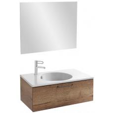 Мебель для ванной Jacob Delafon Odeon Rive Gauche 80 подвесная с 1-м ящиком дуб табак с черными ручками