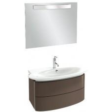 Мебель для ванной Jacob Delafon Presqu'ile 100 подвесная с 2мя ящиками ледяной коричневый лак