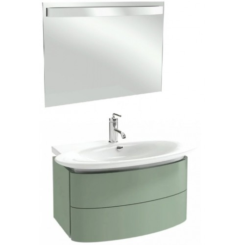 Мебель для ванной Jacob Delafon Presqu'ile 100 подвесная с 2мя ящиками нежно-оливковая
