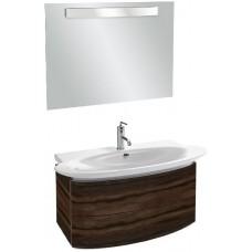 Мебель для ванной Jacob Delafon Presqu'ile 100 подвесная с 2мя ящиками палисандр шпон