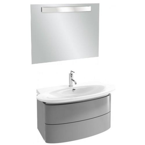 Мебель для ванной Jacob Delafon Presqu'ile 100 подвесная с 2мя ящиками серый антрацит лак