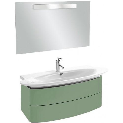 Мебель для ванной Jacob Delafon Presqu'ile 130 подвесная с 2мя ящиками нежно-оливковая