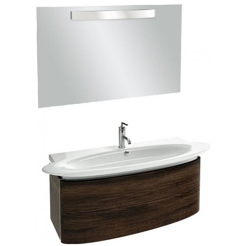 Мебель для ванной Jacob Delafon Presqu'ile 130 подвесная с 2мя ящиками палисандр шпон