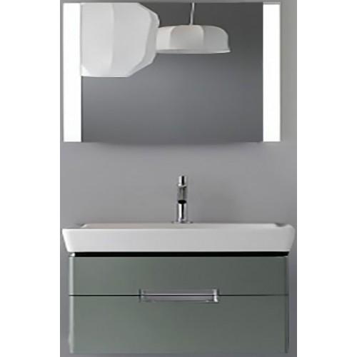Мебель для ванной Jacob Delafon Reve 100 подвесная оливковая блестящая с 2-мя ящиками