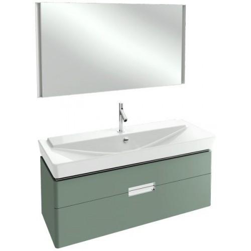Мебель для ванной Jacob Delafon Reve 120 подвесная оливковая блестящая с 2-мя ящиками