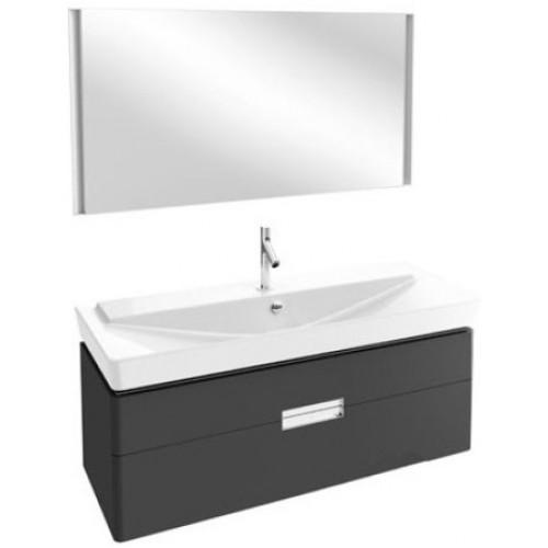 Мебель для ванной Jacob Delafon Reve 120 подвесная серый антрацит с 2-мя ящиками