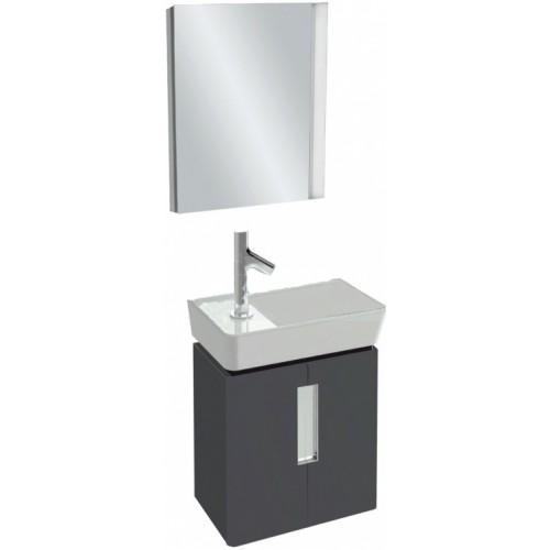 Мебель для ванной Jacob Delafon Reve 45 подвесная серый антрацит