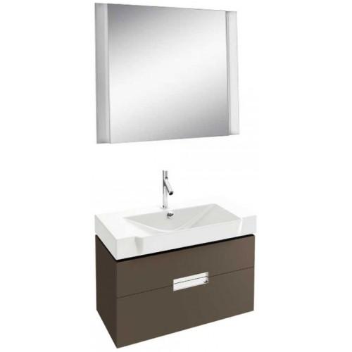 Мебель для ванной Jacob Delafon Reve 80 подвесная светло-коричневая с 2-мя ящиками