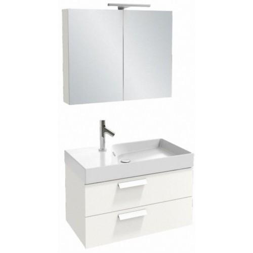 Мебель для ванной Jacob Delafon Rythmik 80x36 подвесная белый блестящий лак 2 ящика