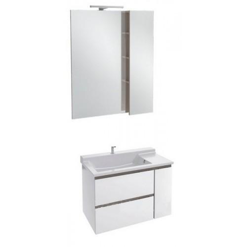 Мебель для ванной Jacob Delafon Soprano 100 с выдвижным ящиком белый глянец