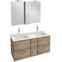 Мебель для ванной Jacob Delafon Soprano 140 раковина с встроенным смесителем квебекский дуб