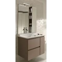 Мебель для ванной Jacob Delafon Soprano 80 раковина с встроенным смесителем с выдвижным ящиком квебекский дуб