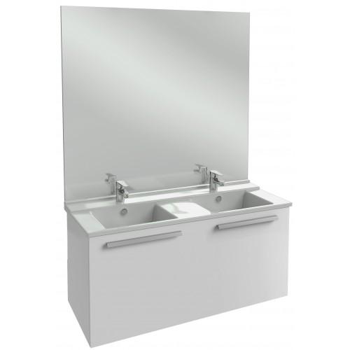 Мебель для ванной Jacob Delafon Struktura 120 подвесная с 1-м ящиком белый блестящий