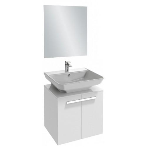 Мебель для ванной Jacob Delafon Struktura 60 подвесная белый блестящий с накладной раковиной