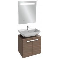 Мебель для ванной Jacob Delafon Struktura 60 подвесная ореховое дерево с зеркалом с подсветкой