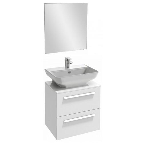Мебель для ванной Jacob Delafon Struktura 60 подвесная с 2-мя ящиками белый блестящий