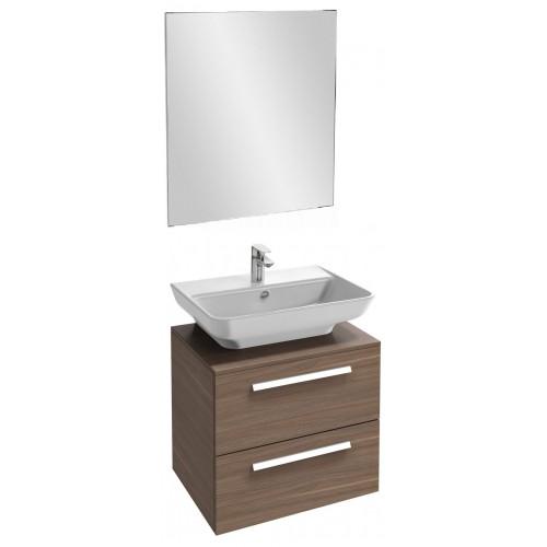 Мебель для ванной Jacob Delafon Struktura 60 подвесная с 2-мя ящиками ореховое дерево