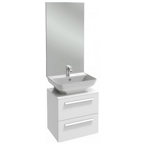 Мебель для ванной Jacob Delafon Struktura 65 подвесная с 2-мя ящиками белый блестящий