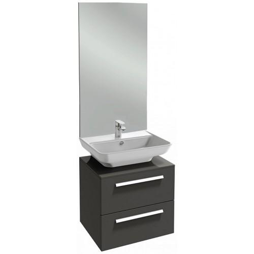 Мебель для ванной Jacob Delafon Struktura 65 подвеснаяс 2-мя ящиками серый антрацит