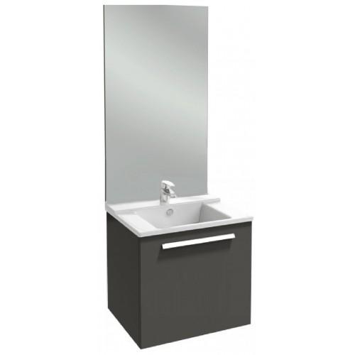 Мебель для ванной Jacob Delafon Struktura 80 подвесная с 1-м ящиком серый антрацит