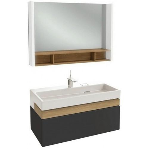 Мебель для ванной Jacob Delafon Terrace 100 подвесная черная матовая раковина с подсветкой