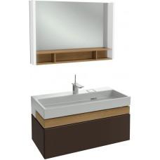 Мебель для ванной Jacob Delafon Terrace 100 подвесная ледяной коричневый глянцевый раковина с подсветкой