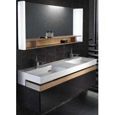 Мебель для ванной Jacob Delafon Terrace 150 подвесная черная матовая раковина с подсветкой