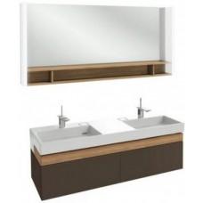 Мебель для ванной Jacob Delafon Terrace 150 подвесная ледяной коричневый глянцевый раковина с подсветкой